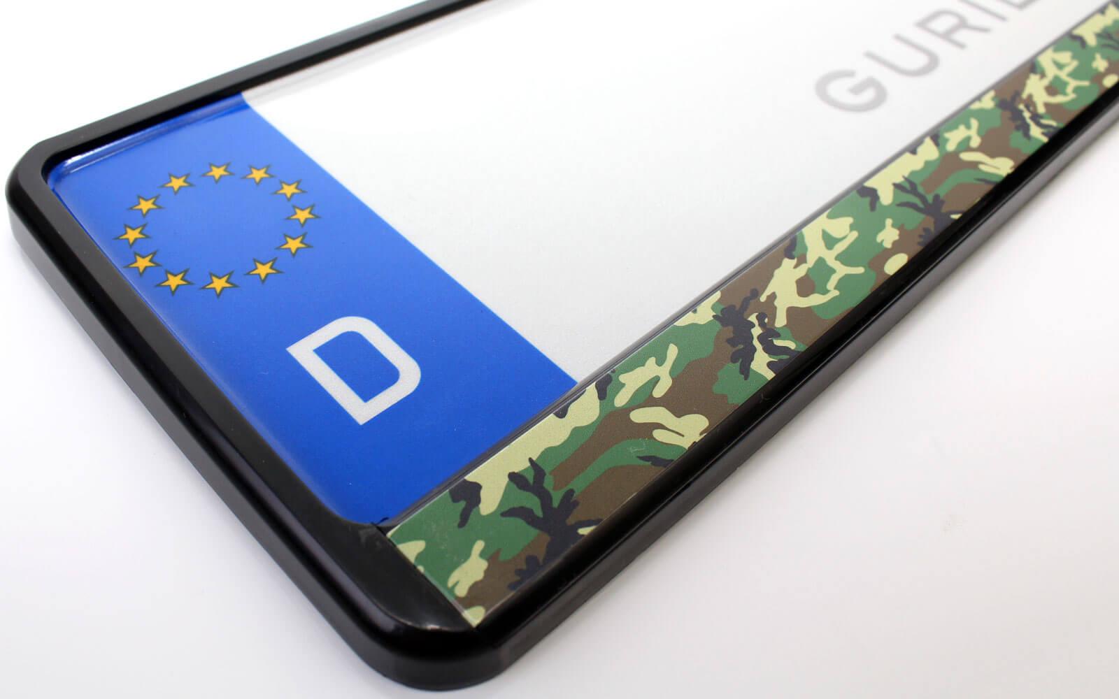 Camouflage Kennzeichenhalter