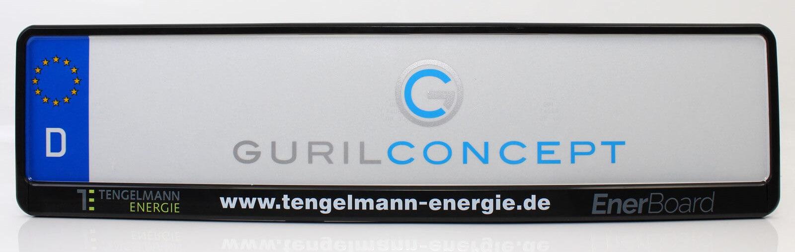Kennzeichenhalter mit individuellem Firmenaufdruck für Tengelmann Energie